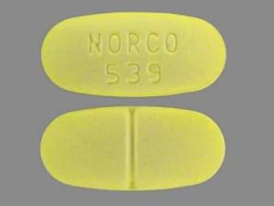 Norco 539 (Hydrocodone 10/325mg)